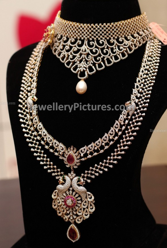 ratnavali with cz set plated gold jewels jewellery necklace designer diamond buy american dp chain