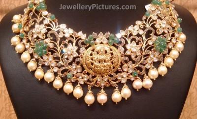 pachi work diamond necklace