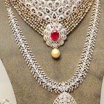 Diamond necklace and long chain set
