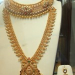 Gold Bridal Long Chain and Necklace set