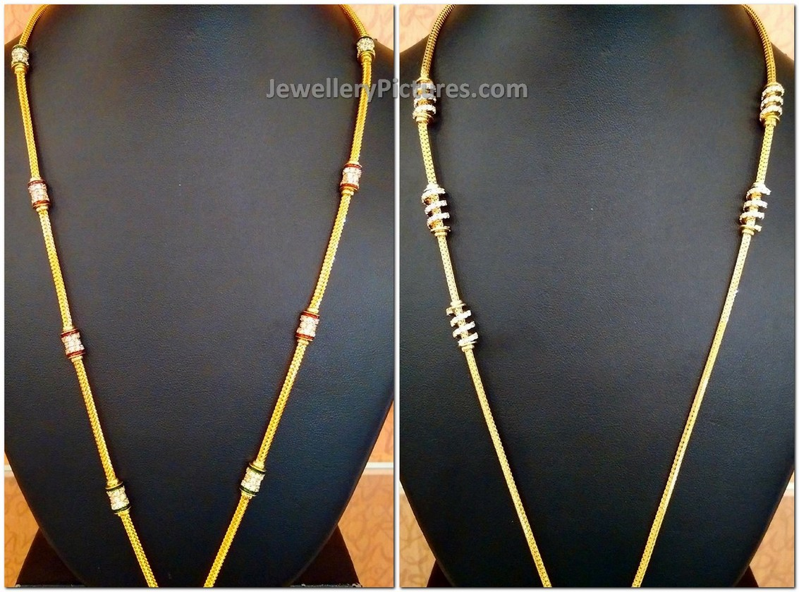 Long Chains Designs In A New Model With Gold