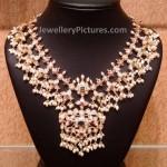 Gutta Pusala Necklace in Pachi work