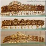 Lakshmi Devi Gold Vaddanam Designs in Nakshi work
