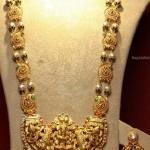 Gold Maha Lakshmi Haram design