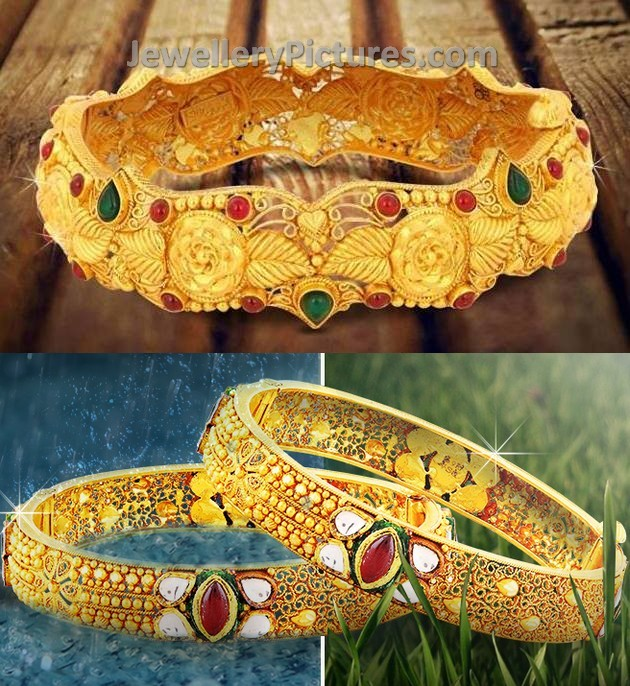 traditional gold bangles jewellery designs