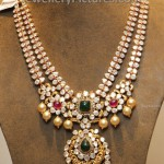Pachi style Step Necklace with Flat Diamonds