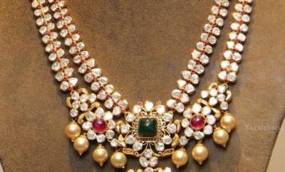 pachi work uncut diamond necklace