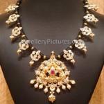 Traditional Gold Black Dori necklace