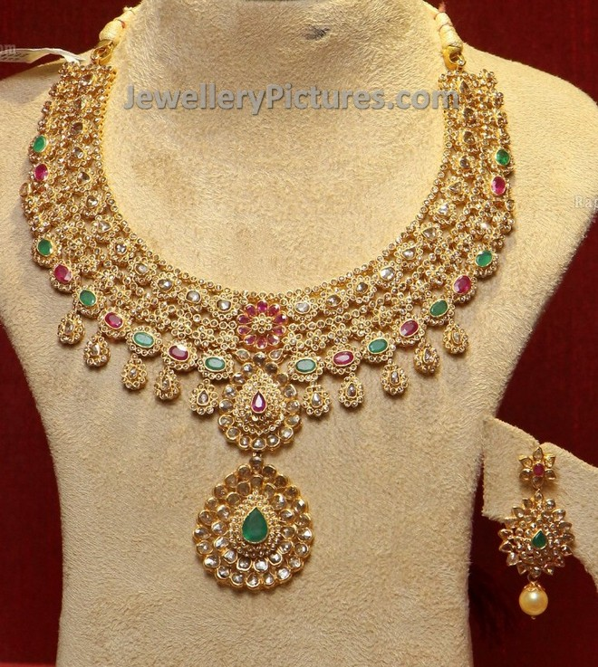 unique diamond necklace pendant search with kundan peacock jewellery label gold latest designs uncut