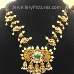 Antique Black Thread Gold Necklace