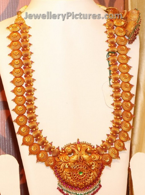 Antique Long Haram With Double Chain Jewellery Designs