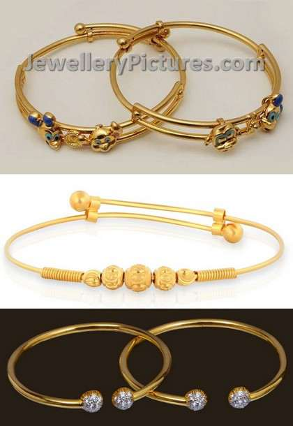 Baby Bangle Bracelets Jewellery Designs