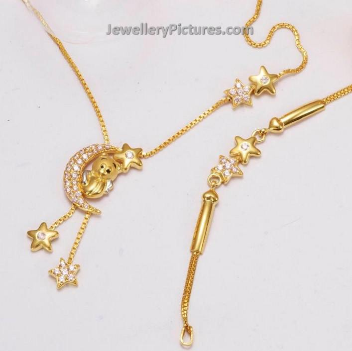 Baby Gold Necklace Designs - Jewellery Designs