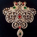Big size traditional peacock diamond pendant