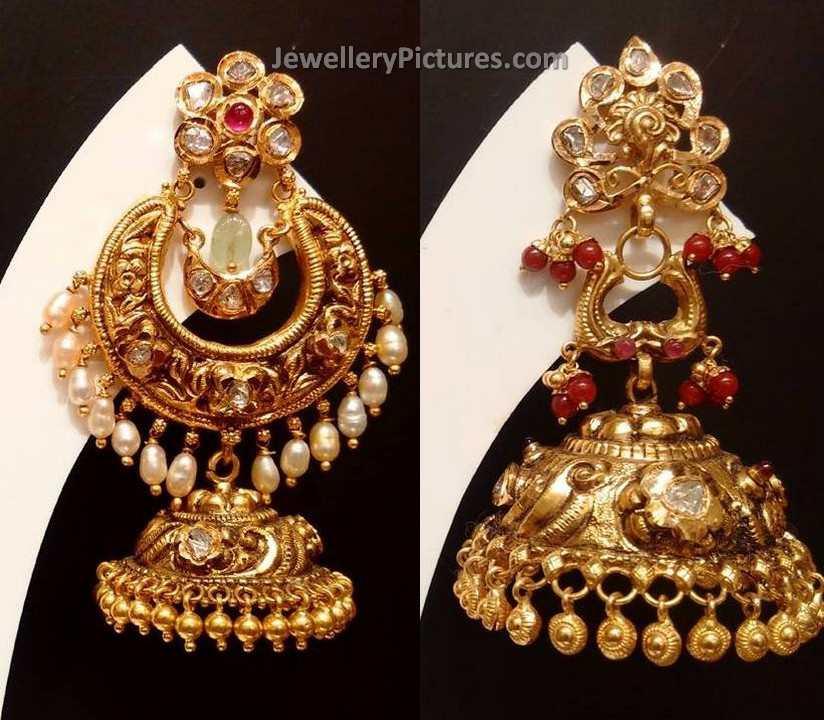 Latest Gold Jhumkas Designs - Jewellery Designs