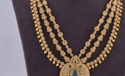 layered chakri diamond necklace