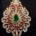 Pear closed setting diamond Pendant
