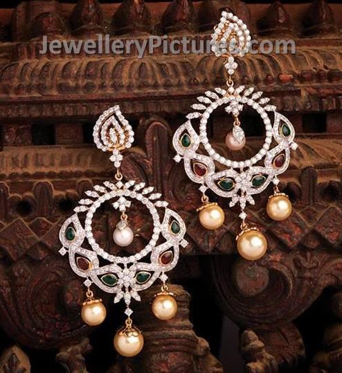 Diamond chandbali earrings
