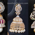 3 Glittering Diamonds Jhumka