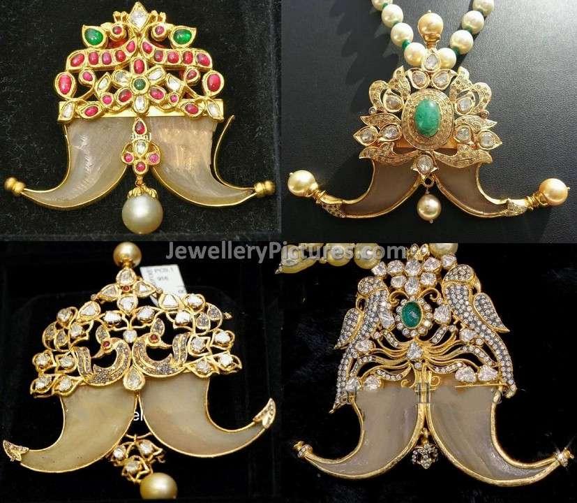Double Puligoru Pendant Collection Jewellery Designs