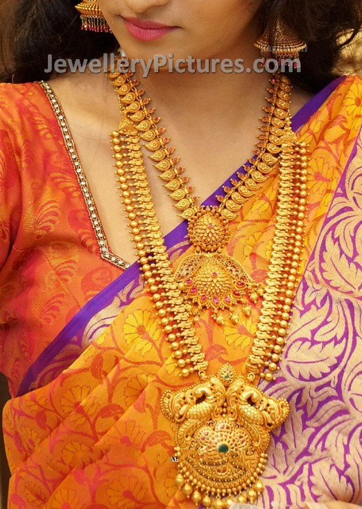 Peacock Design Gold Jewellery Jewellery Designs
