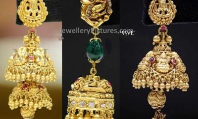 lakshmi devi jhmkis bridal earrings