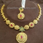 Light Weight Uncut Diamond Necklace Set