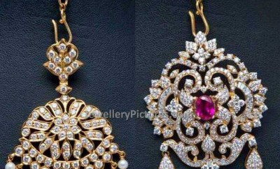 diamond maang tikka without chain