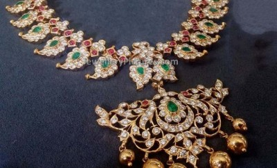 Diamond Mango Mala Latest Indian Jewelry Jewellery Designs