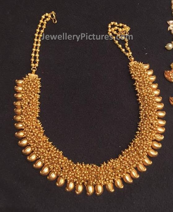 Pearl Jewellery Necklace >> Maharashtrian Mango Thussi Necklace - Jewellery Designs