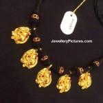 Nakshi Black Thread gold Necklace
