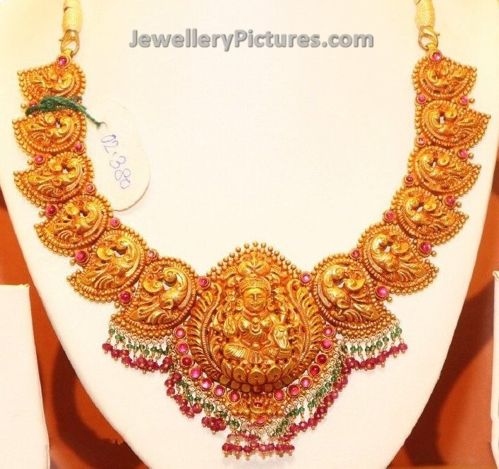 Antique Gold Necklace Designs - Jewellery Designs