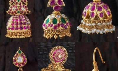 ruby jhumka designs