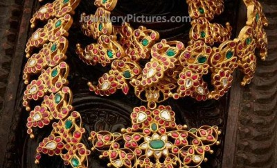 antique jewellery designs with gold and rubies