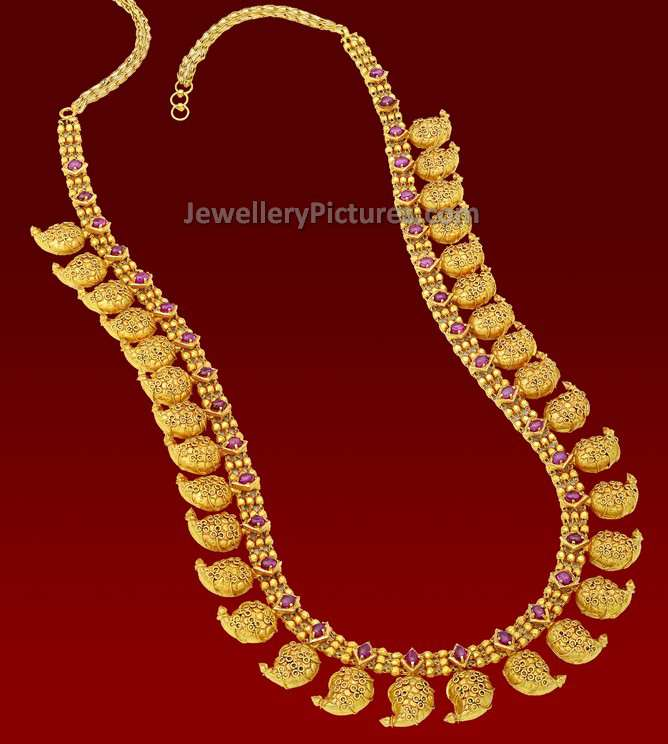 Antique Long Necklace Designs Jewellery Designs
