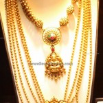 Chandrahar Jewellery with Gold Beads