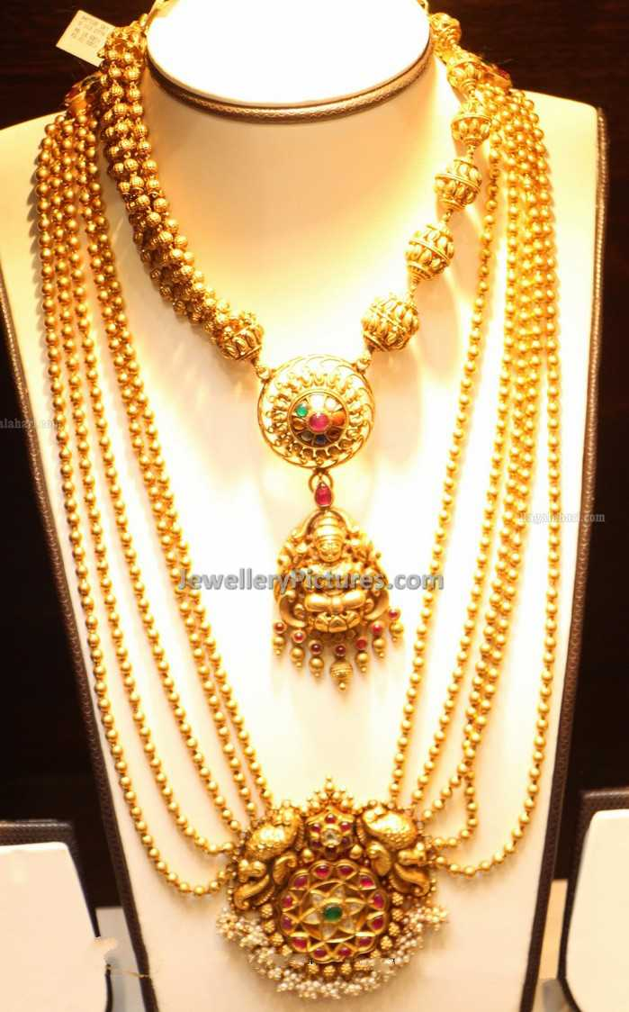 haram design jewelsmart stones covering white designs beads online style plated kerala necklace gold ad jewellery long