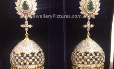 diamond jhumka designs from parnicaa