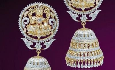 lakshmi devi diamond jhumkas online