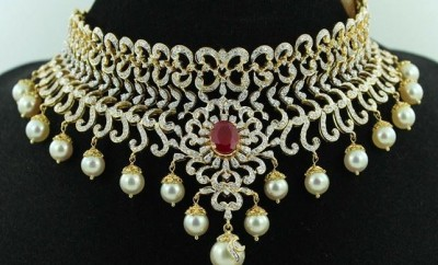 Diamond Necklace Designs With Price Jewellery Designs
