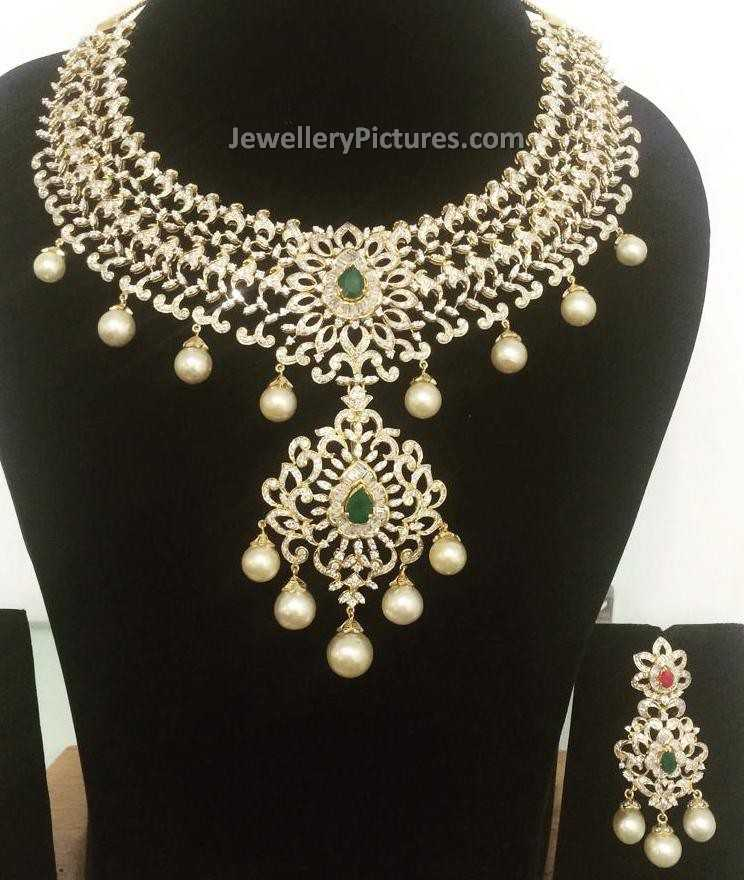 Diamond Earrings Latest Indian Jewelry Jewellery Designs