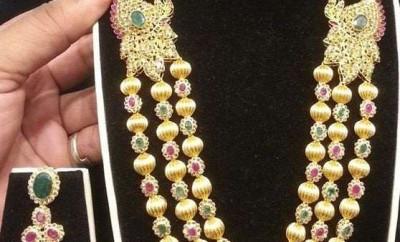 gold ball haram designs in steps