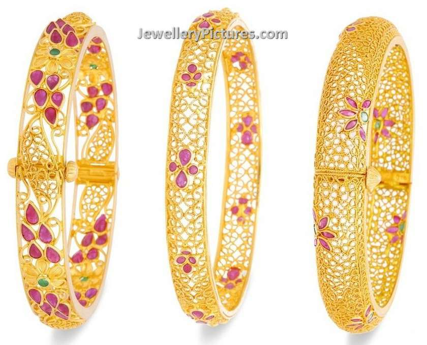 Gold Bangles Designs with Price - Jewellery Designs