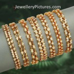 Gold Diamond Bangles Designs