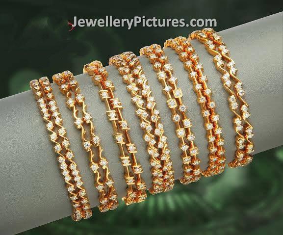 Diamond Bangles Latest Indian Jewelry Jewellery Designs