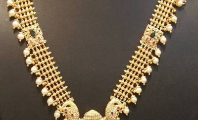 gold long chain designs south indian design jewelry