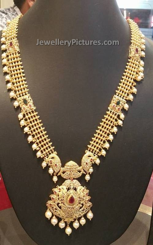Gold Long Chain Designs South Indian Design Jewellery