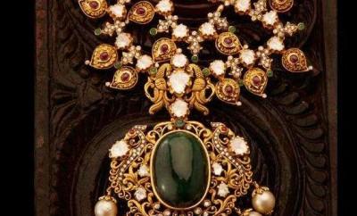 gold mango mala designer jewellery