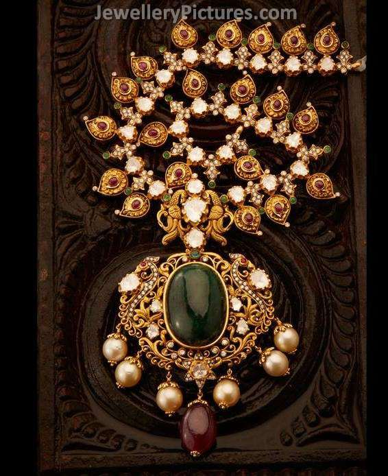 Gold Mango Mala Designs Jewellery Designs