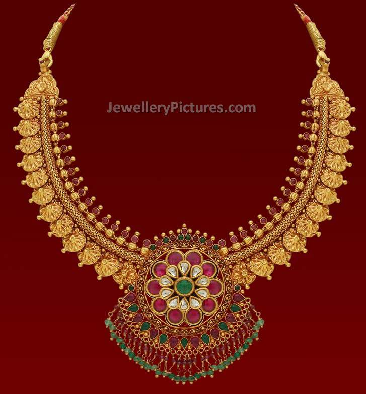 Gold Necklace Design Catalogue - Jewellery Designs